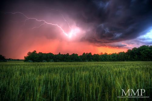 sunset summer storm field rain weather shower farm stormy lightning hdr thechallengefactory thepinnaclehof tphofweek136