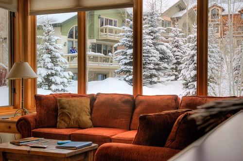 trees winter snow cold d50 nikon livingroom condo hdr