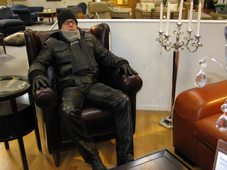 Resting in a nice leatherchair