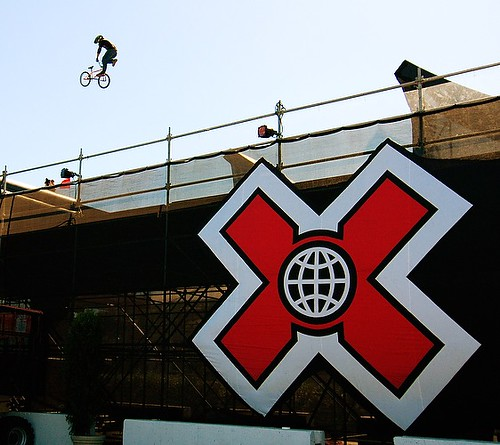 X Games BMX Megaramp | A competitor performs a tailwhip over… | Flickr