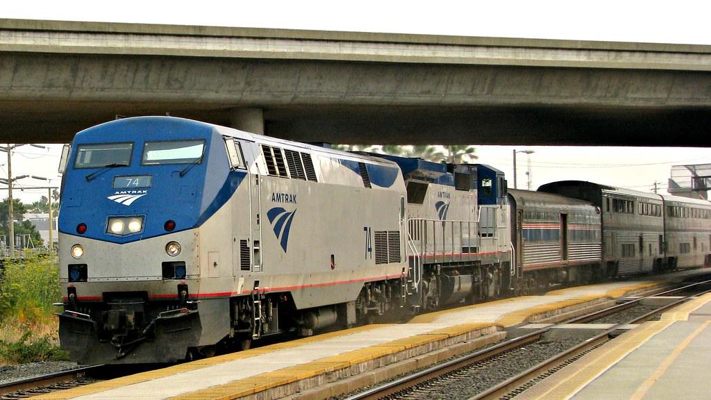 Amtrak #074 Genesis GE P42 & Amtrak #507 GE P32-8 New Phas… | Flickr