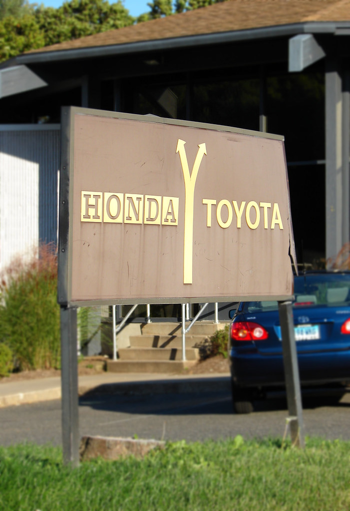 Hoffman Honda Toyota An Old Sign At Hoffman Honda Toyota D Flickr