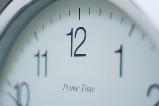 timepiece prime time clock closeup watch | by zoutedrop