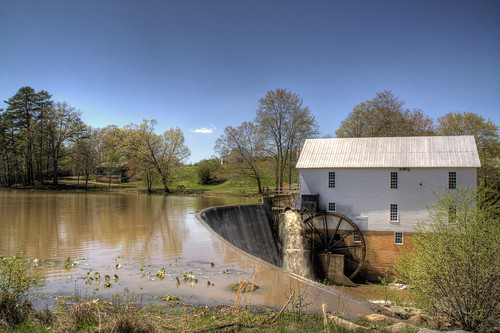 sky history mill water landscape nc spring pond dam northcarolina historic hdr murraysmill catawbacounty davidhopkinsphotography