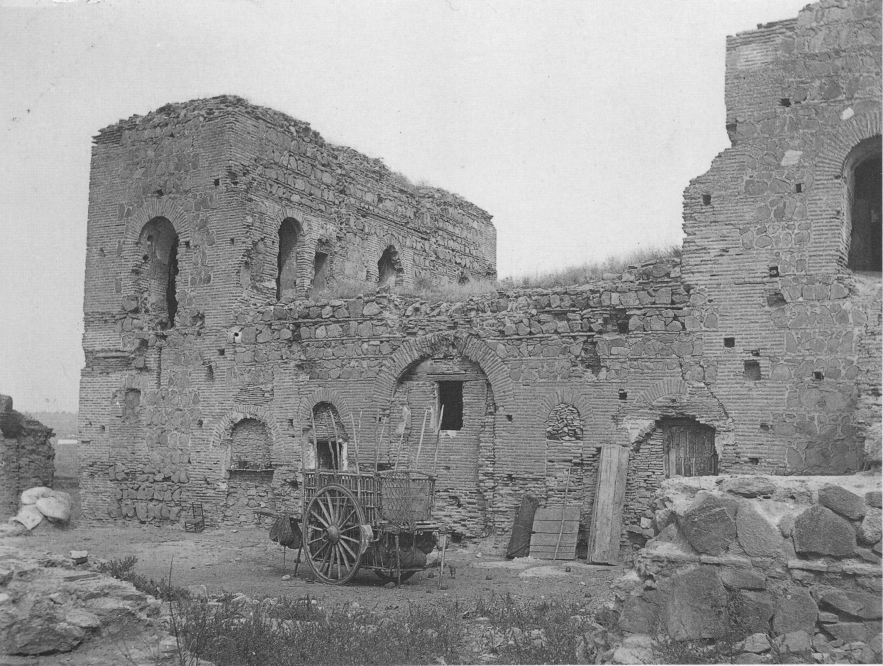 Aspecto del palacio a principios del s.XX