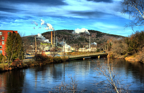 sky mill river maine smokestacks creativecommons hdr rumford androscoggin androscogginriver 3exposures rawshooting newpage dynamicphotohdr