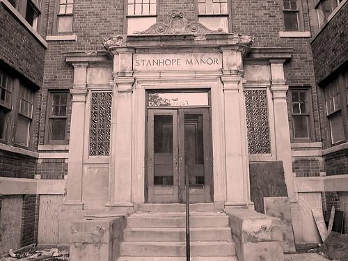 Entrance: Stanhope Manor Apartments (Sepia Version)--Detroit MI