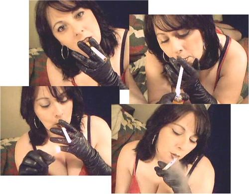 Smoking Fetish Leather Gloves  Smoking Fetish Smoke Sexy -4879