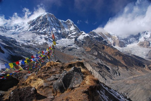 Prayer flags at the Annapurna Basecamp | by magical-world