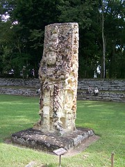 Stela at Copan Ruins