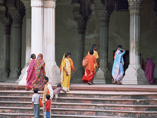 Colors at Agra Fort