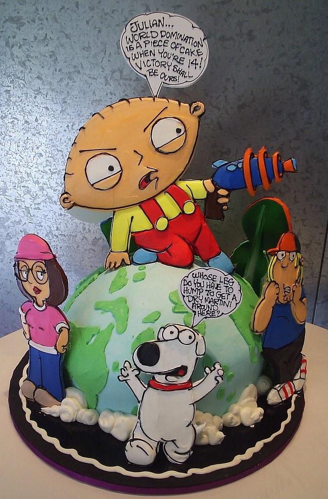Enjoyable Family Guy Childrens Birthday Cake Rosebud Cakes Flickr Funny Birthday Cards Online Alyptdamsfinfo