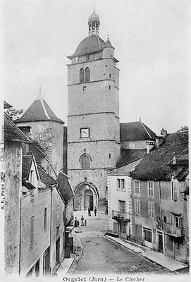La place Marnix et l'église d'Orgelet
