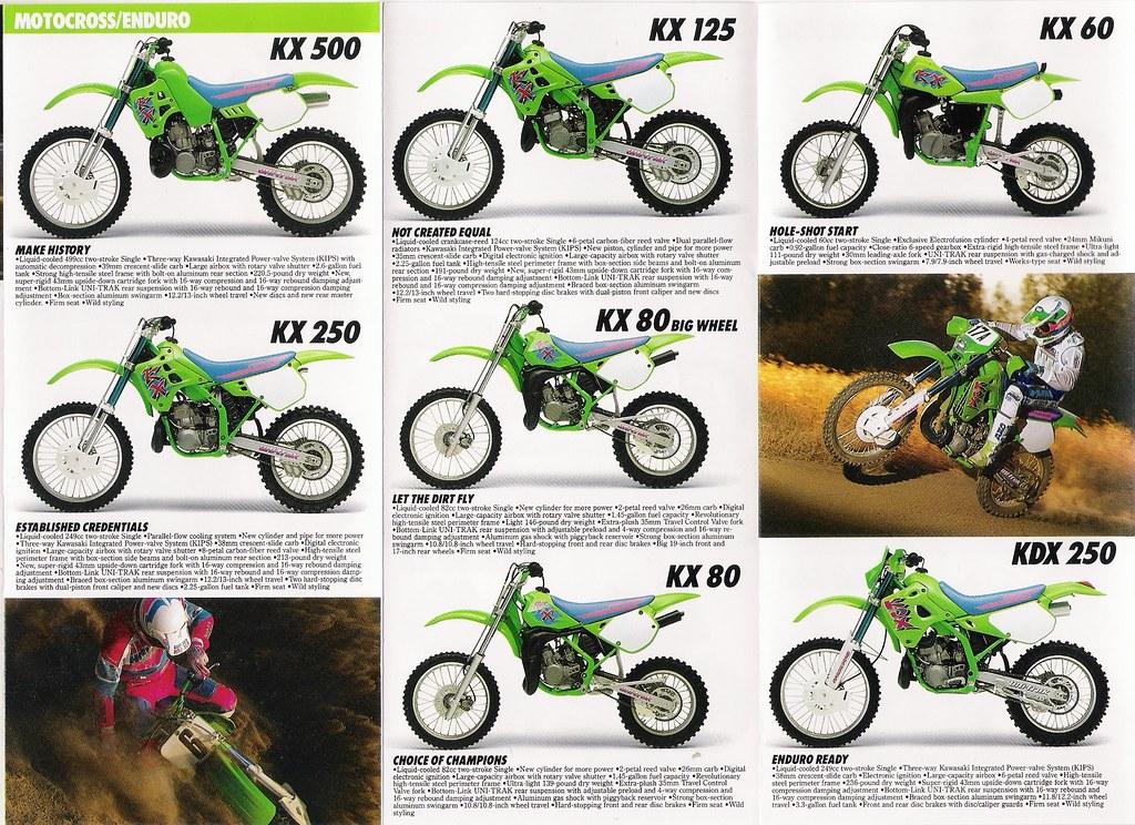 1991 Kawasaki Dirt Bikes 1 | Scan of a portion of the sales