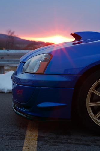 2005 sunset car gold nikon automotive subaru impreza wrx sti bbs worldrallyblue d40 phototography subarutechnicainternational
