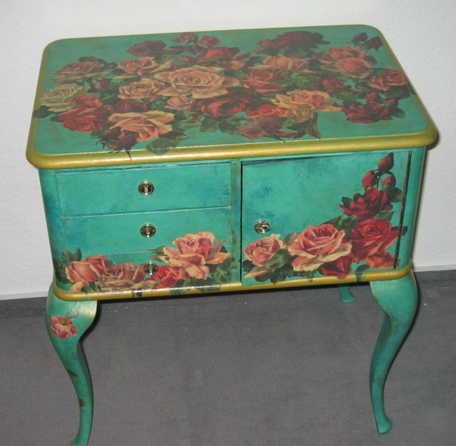 Decoupage Furniture Roses Swamp Dragon Flickr