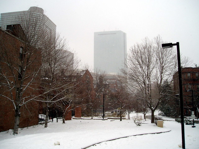 Hancock Tower in the Snow