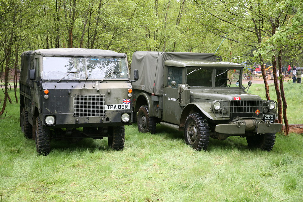 1976 101 Land Rover and 1952 Dodge M37 | Graham Robertson | Flickr