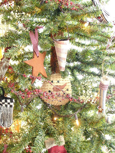 Primitive Christmas Tree.Primitive Christmas Tree Christmas In The Cottage Here Is