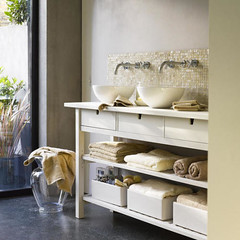 Ikea kitchen server as bathroom console | by this_could_be_my_house
