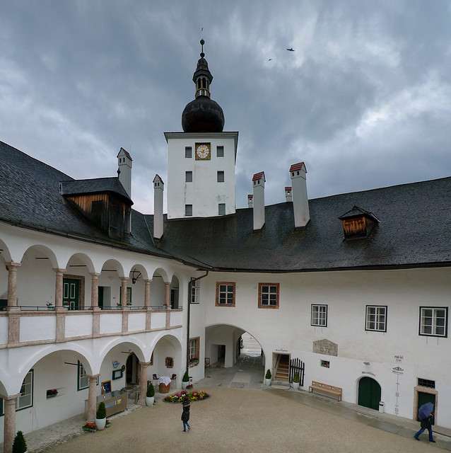 The arcaded courtyard of Schloss Orth