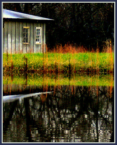 reflections landscape countryside pond