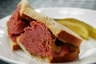Just the Basics: Smoked Meat and Mustard on Rye   by taminator