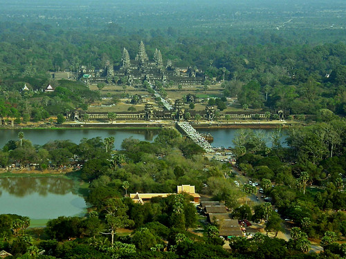 Angkor Wat from a hot air balloon | by emeybee
