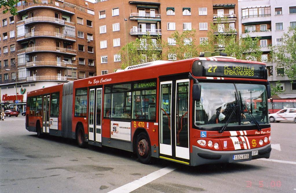 EMT Madrid gelede bus 470