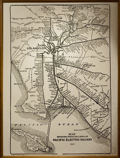 1907 Pacific Electric Railway map