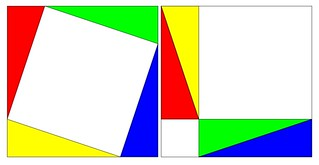 Simple geometric proof of the pythagorean theorem | by tobo