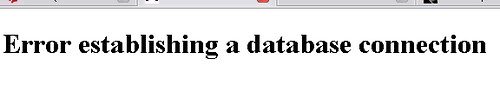 New WordPress database error