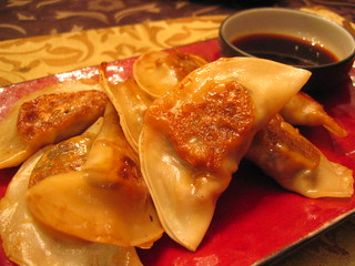 gyoza with napa cabbage and shiitake mushrooms and ponzu dipping sauce | by tofu666