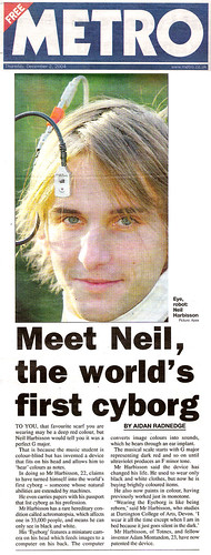 Neil Harbisson - Metro London | by Cyborgs - Press
