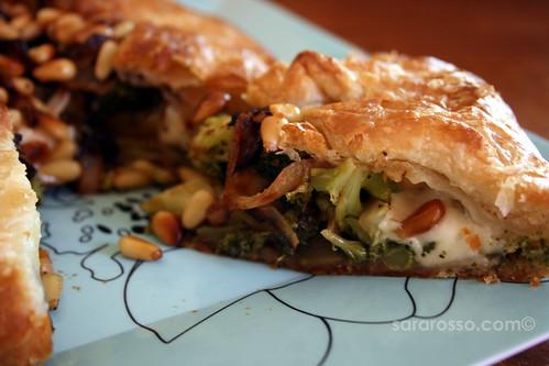 Broccoli, Onion and Pine Nut No-Egg Quiche Innards | by MsAdventuresinItaly