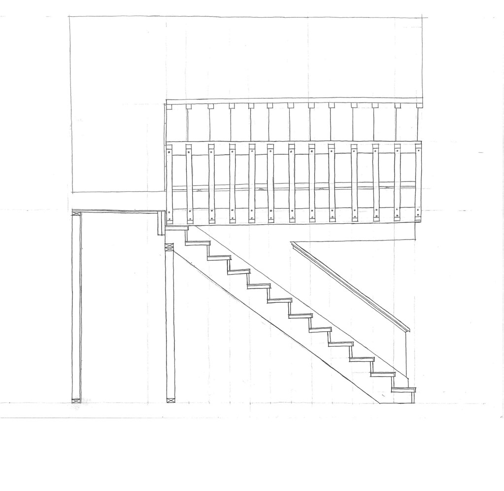 Stair Elevation/Section   This assignment was to use plan an