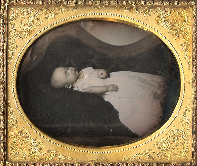 Post Mortem Daguerreotype of a Baby on a Sofa * New scan