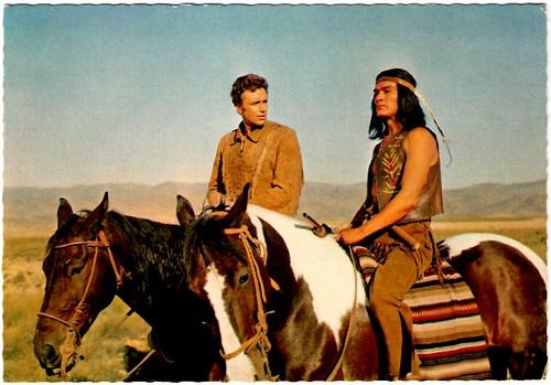 Dan Martin and Anthony Steffen in Der Letze Mohikaner (1965)
