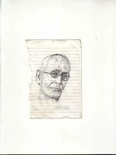 Zavier Ellis 'Mad Genius #1', 2006 Pencil on paper 14.8x10.7cm
