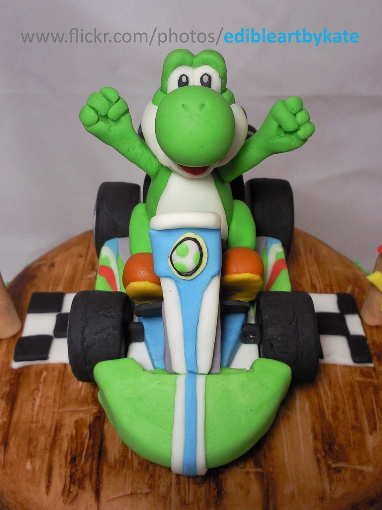 Stupendous Yoshi Kart Cake Topper Front View A Photo On Flickriver Funny Birthday Cards Online Necthendildamsfinfo