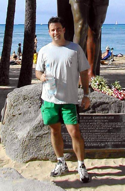 waikiki Beach @ The duke kahanamoku statue | duke kahanamoku