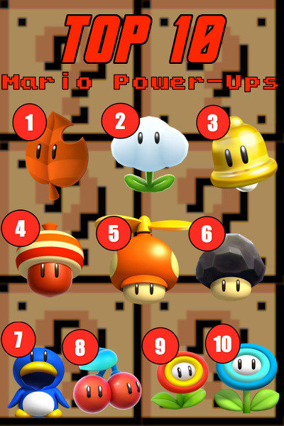 TOP 10 Mario Power-Ups! | So these are my TOP 10 favorite Ma