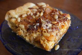 Pumpkin, Pancetta, Parmigiano and Pine Nut Savoury Tart Close-up | by MsAdventuresinItaly