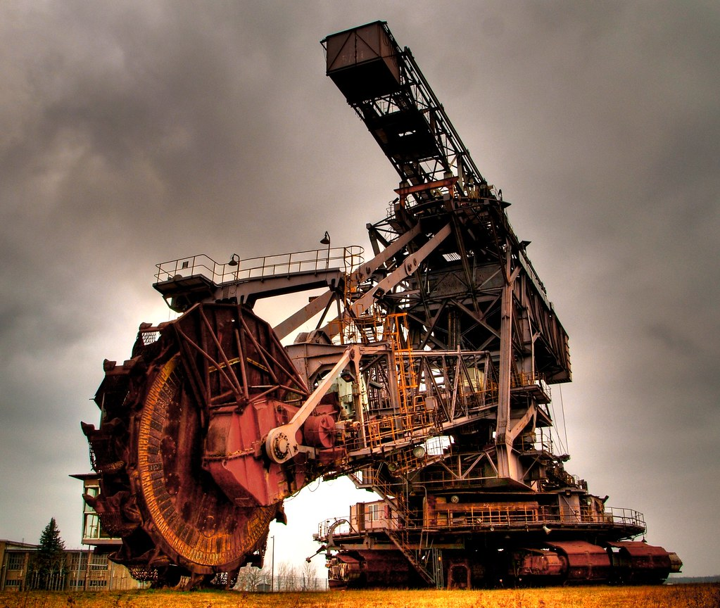 Bucket Wheel Excavator Large View They Are Among The Large Flickr