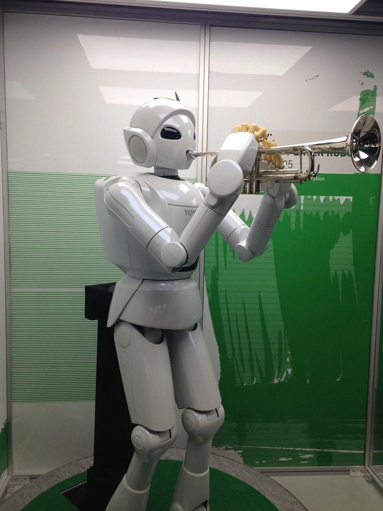 Trumpet Playing Robot