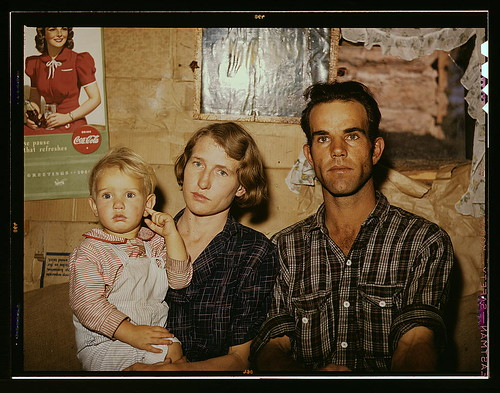 Jack Whinery, homesteader, with his wife and the youngest of his five children, Pie Town, New Mexico  (LOC)   by The Library of Congress