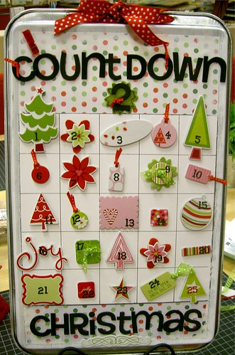 Cookie Sheet Advent calendar | by {Shirley}
