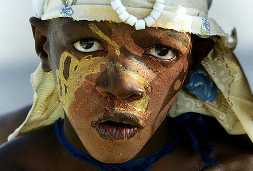 young Pierot in africa (street portrait) by lilion (Beatrix Jourdan)