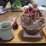 Japanese Ice Shaved - Cafe Mocha Ice / Raspberry Sauce