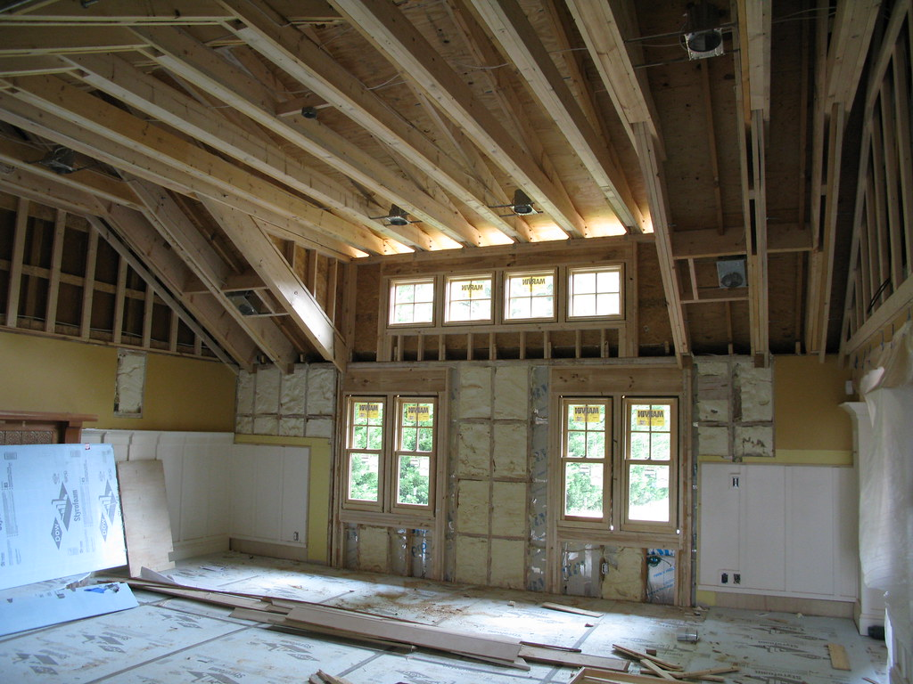 Raised ceiling, spray foam insulation | This is a remodeling… | Flickr